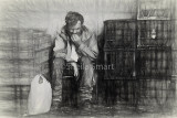 Man with crates