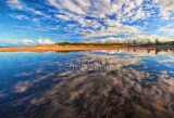 Narrabeen panorama with clouds