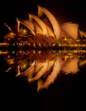Sydney Opera House night reflection