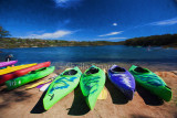 Kayaks at Narrabeen Lagoon