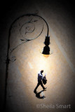 Man and lamp in Rocks
