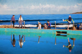 Narrabeen rockpool with children