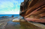 Dee Why Headland with sandstone cliff
