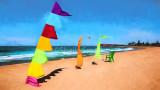 Bali flags at Collaroy Beach
