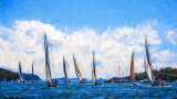 Yacht race on Pittwater