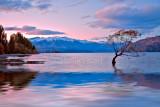 Late evening at Lake Wanaka, South Island, New Zealand