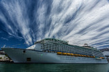 Voyager of the Seas moored in Sydney Harbour