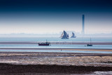 Thames sailing barges at Southend on Sea, Essex
