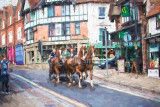 Horse carriage in Lyndhurst