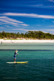 Lady on surf paddle at Huskisson