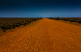 Outback road into Mungo National Park