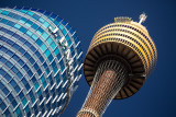 JP Morgan building and Sydney Tower
