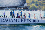 Ragamuffin 100 maxi yacht as a painting