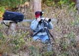 Joe W photographing beavers