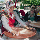 Women making gozleme
