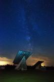 Milky way over solar farm