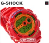 2013 CASIO G-SHOCK SUPER LED GD-100 GD-100HC-4 7 YEAR BATTERY BIG FACE AND CASE