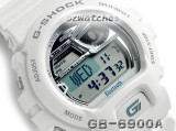 CASIO G-SHOCK BLUETOOTH v4.0 to iPHONE 4S/5 GB-6900AB-7 GB-6900AB-7DR WHITE GROSS