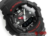 CASIO G-SHOCK ANALOG DIGITAL COMBINATION G-100-1B G-100-1BV BLACK FACE WITH BOX