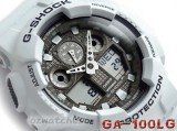 NEW CASIO G-SHOCK ANTI-MAGNETISM GA-100 GA-100LG-8A SHOCK RESISTANT X-LARGE BLIZZARD WHITE