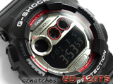 CASIO G-SHOCK GD-120TS GD-120TS-1DR 7 YEAR BATTERY SUPER LED STOCK RESISTANT BLACK SEMI-GROSS