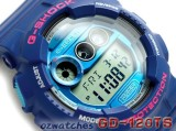 CASIO G-SHOCK GD-120TS GD-120TS-2DR 7 YEAR BATTERY SUPER LED STOCK RESISTANT BLUE SEMI-GROSS