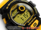 CASIO G-SHOCK FRONT BUTTON G-8900SC G-8900SC-1Y SHOCK RESISTANT BLACK & YELLOW