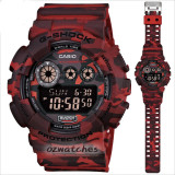 CASIO G-SHOCK GD-120CM GD-120CM-4 WOODLAND CAMOUFLAGE PATTERN STOCK RESISTANT