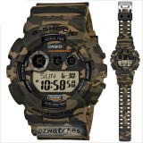 CASIO G-SHOCK GD-120CM GD-120CM-5 WOODLAND CAMOUFLAGE PATTERN STOCK RESISTANT