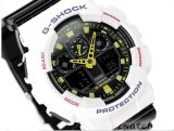NEW CASIO G-SHOCK ANTI-MAGNETISM GA-100CS GA-100CS-7A SHOCK RESISTANT X-LARGE BLACK AND WHITE