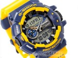 CASIO G-SHOCK BIG CASE ROTARY SWITCH GA-400-9A GA-400-9BDR BLUE / YELLOW SHOCK RESISTANT