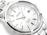SEIKO KINETIC 100M SKA673 SKA673P1 JAPAN MOVEMENT SILVER DIAL STAINLESS STEEL BAND