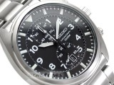 SEIKO CHRONOGRAPH QUARTZ SNN231 SNN231P1 BLACK DIAL SS BAND JAPAN MOVEMENT