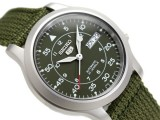 SEIKO 5 AUTOMATIC MILITARY 21 JEWELS 30M WR SNK805 SNK805K2 GREEN NYLON