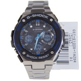 CASIO G-SHOCK G-STEEL MENS DIGITAL WATCH GST-S100D-1A2 GST-S100D-1A2DR BLUE / BLACK, STAINLESS STEEL BAND