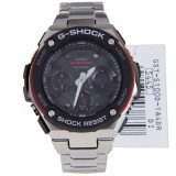 CASIO G-SHOCK G-STEEL MENS DIGITAL WATCH GST-S100D-1A4 GST-S100D-1A4DR RED / BLACK, STAINLESS STEEL BAND