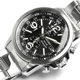 NEW SEIKO SOLAR CHRONOGRAPH MENS WATCH ALARM 100M SSC075 SSC075P1 BLACK