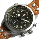 Shop Australia Online - SEIKO SOLAR MENS WATCH CHRONOGRAPH ALARM SSC421 SSC421P1 BLACK, BROWN LEATHER BAND