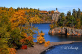 25.2 - Split Rock Lighthouse: High View With Island, Autumn Golds
