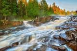 * 116.6 - Beaver River:  Glen Avon Cascade In Morning Mist