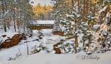 101.3 - Superior Area: Amnicon Bridge in December Snow, Upstream View