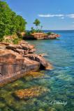 139  - Bayfield:  Madeline Island Shoreline, Vertical