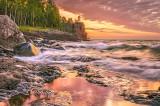 ** 44.7 - Split Rock Lighthouse:  Summer Sunrise Surf,  July 23rd (Re-made)