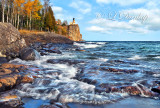 ** 44.8- Split Rock Lighthouse:  Cascading Surf, October 5th