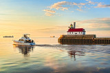 95.2 - Duluth Harbor:  Blue Haven At Sunrise