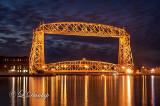 96 - Duluth Harbor:  Aerial Lift Bridge, Pre-Dawn