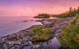 41.2 - Split Rock Lighthouse (Beach): Looking Towards Ellingsen Island At Dawn