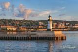 95.4 -  Duluth Harbor:  North Breakwarer Light Just After Sunrise