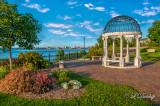 93.4 - Duluth:  Gazebo At Rose Garden, View Towards Harbor