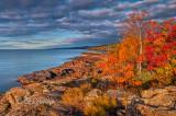 124.3 - Grand Marais:  Shoreline With Autumn Color